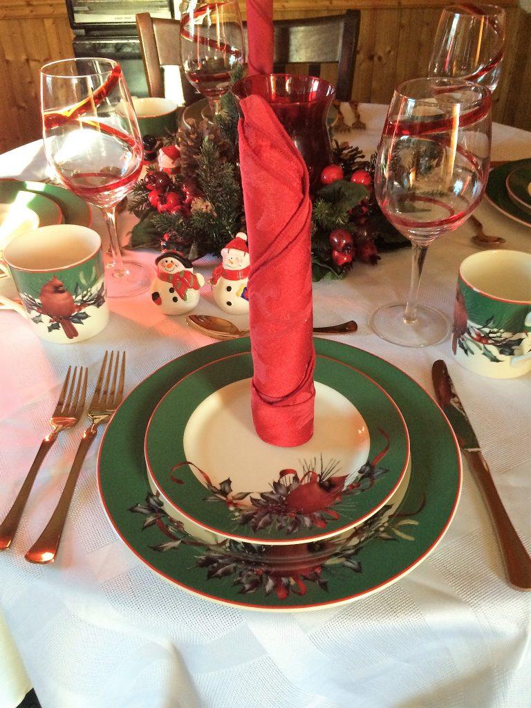 Wednesday table setting